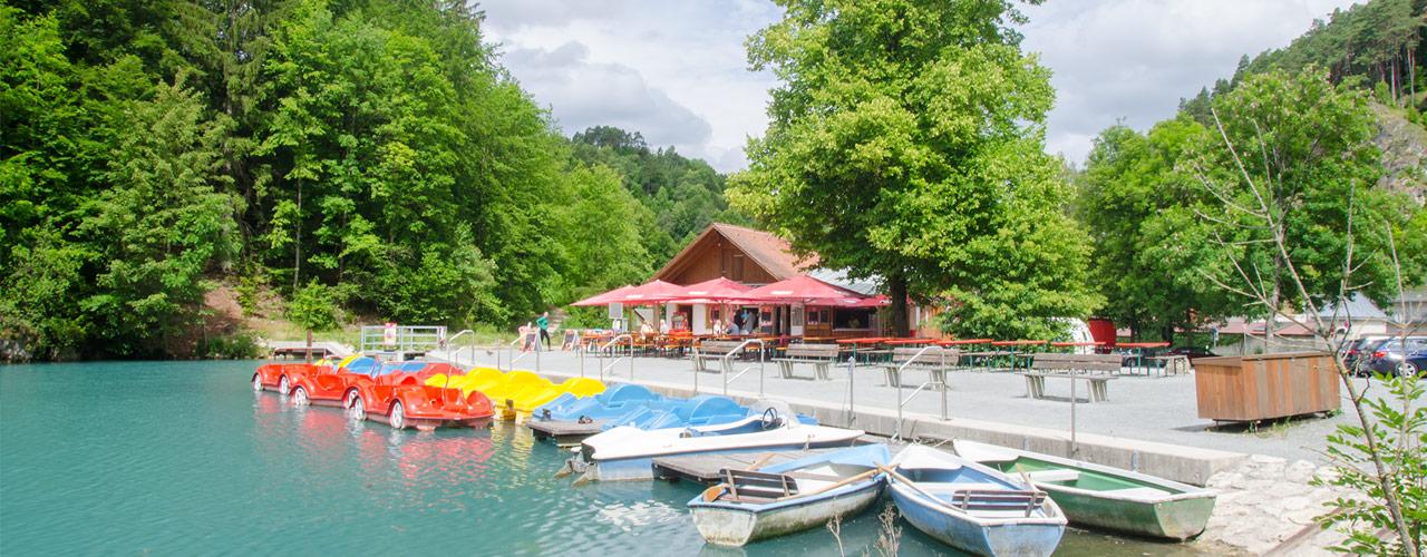 Der Schöngrundsee in Pottenstein - Pension & Ferienwohnung Schmidt