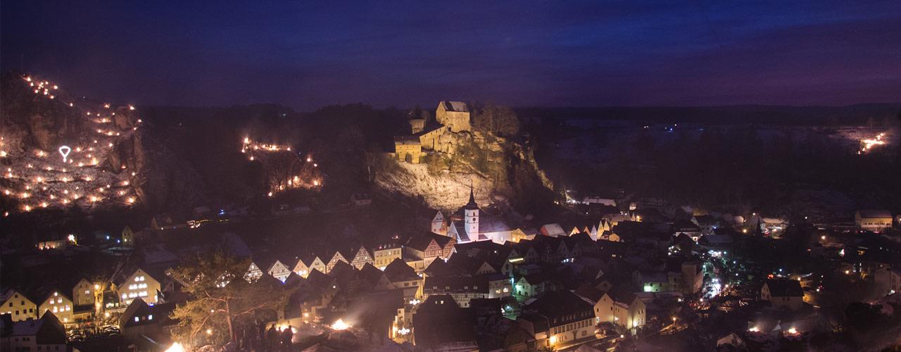 Das Lichterfest in Pottenstein ist eines der schönsten seiner Art ..